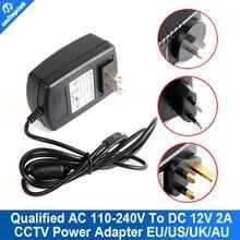 Qualified AC 110-240V To DC 12V 2A Power Supply Adapter For CCTV,EU/US/UK/AU Plug