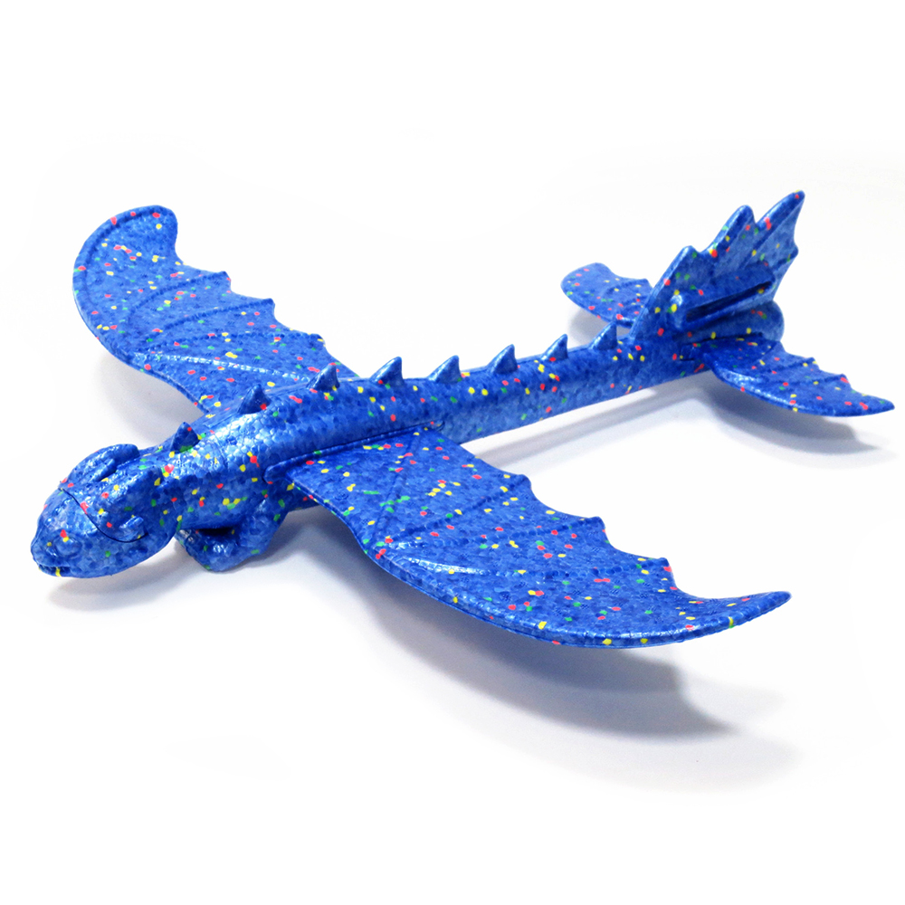 Toothless Hand Launch Throwing Glider Aircraft Inertial Foam 48cm   EPP Airplane Taming Dinosaur Train Dragon Plane Model Toys