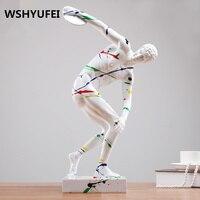 Скульптура абстрактного искусства украшения дома ремесел спортивных человеческое тело украшения