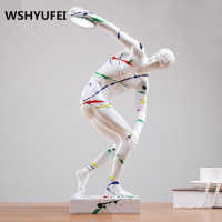 Sculpture abstract art home decoration crafts sports human body decoration