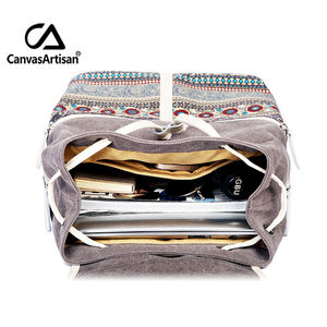 Image 4 - Canvasartisan Top Quality Canvas Women Backpack Casual College Bookbag Female Retro Stylish Daily Travel Laptop Backpacks Bag