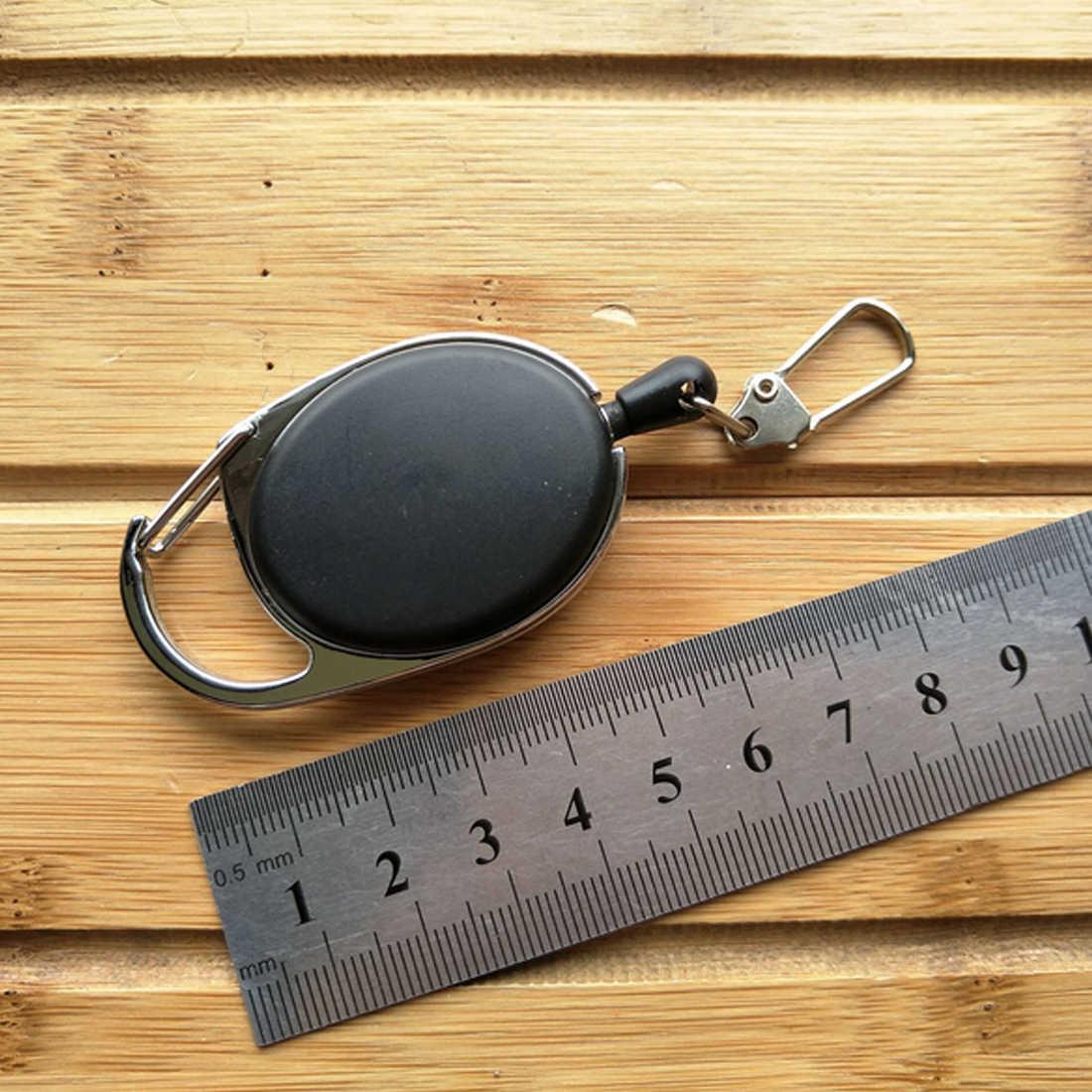 ホット販売屋外伸縮ワイヤーロープのキー盗難キーチェーン戦術 EDC 格納式チェーンリターンキーリングホルダー