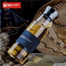 500 ml Gentleman Serie drinkware Tee/Wasser glasflasche Edelstahl Abdeckung Glas mit tee-ei Isolierglas Flasche