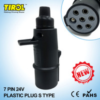 TIROL 7 Pin Plastic Plug 24V S Type Caravan Towing Conversion Trailer Wiring Connector T23411a Free