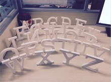 Wedding Photo Props 26 Freestanding Beautiful Wood Wooden Letters White Alphabet Wedding Party Home Decorations
