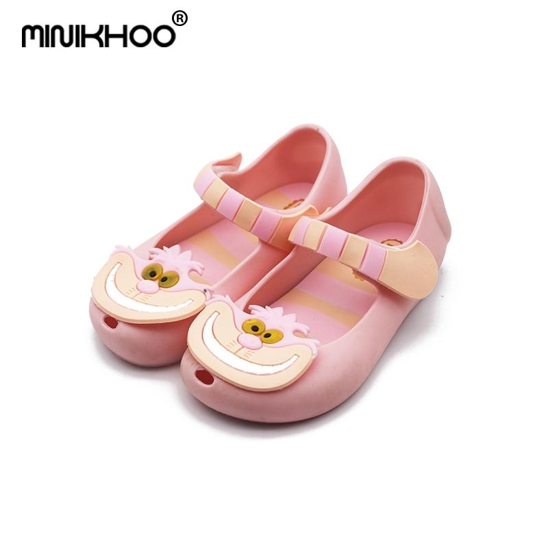 Mini Melissa 2018 New Summer Sandals Shoes Sandalen Alice In Wonderland Cheshire Cat Sandals 13-15.5cm Mini Melissa Jelly Shoes