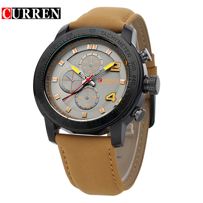 Curren Men Watch Top Brand Luxury Casual Business Men Clock Casual Leather Luxury Male Wrist Quartz Army Sport Watch Gift 8190 curren men s fashion and casual simple quartz sport wrist watch