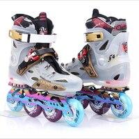Взрослых роликовые коньки Профессиональный роликовые коньки Роликовые кроссовки катание обувь для мужчин и женщин Фигурное катание ролик