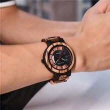 DODO DEER New Design Calendar Zebra Wooden Watch Men Luxury Brand Quality Quartz Wristwatch Wood Men Watch Relogio Masculino C07