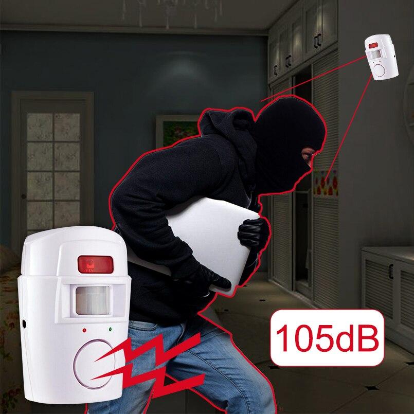 Home Security System IR Infrarot-bewegungssensor Alarm Detector 105dB Alarm Monitor Drahtlose alarmanlage + 2 fernbedienung