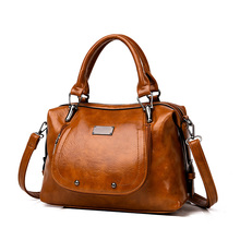 Vintage Genuine Leather Handbags Women Bags Causal Daily Large Capacity Tote Crossbody TOP-handle Shoulder Bag Bolsos Mujer