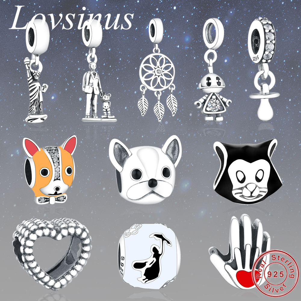 Jewelry & Accessories Mybeboa Summer Style 925 Sterling Silver Trendy French Bulldog Pendant Charms Bead Fit Original Pandora Bracelet Charms Jewelry Fancy Colours
