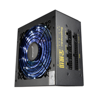 550W Full Modular Active PFC ATX Gaming Power Supply With 120mm Low Noise LED Fan For
