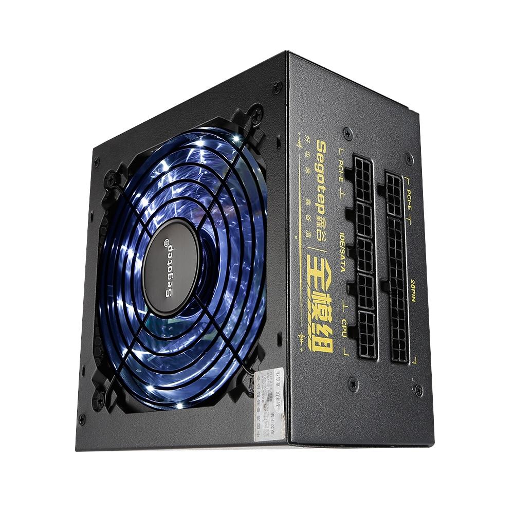 550 W pleine alimentation modulaire Active de jeu de PFC ATX avec 120mm à faible bruit ventilateur LED pour ordinateur de bureau pc case gamer nouveau