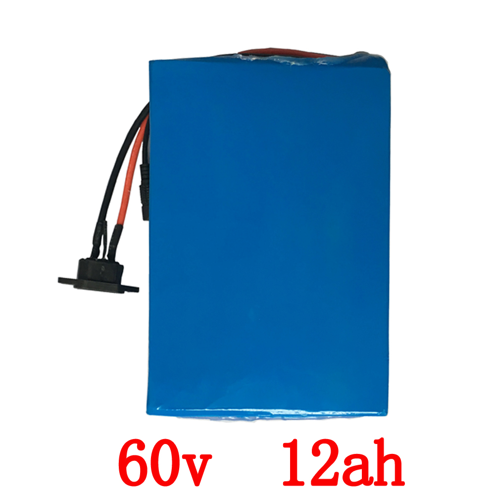 Free Shipping 60 Volt 1000W Electric Bike battery 60V 12Ah Lithium battery with 15A BMS PVC case + 67.2V 2A Charger 24v e bike battery 8ah 500w with 29 4v 2a charger lithium battery built in 30a bms electric bicycle battery 24v free shipping