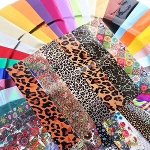 Image 2 - 50 סוגים מעורב עיצוב כוכבים שמיים נייל לסכל סט פרח תחרה העברה גולשים נייר דבק מדבקות DIY אמנות קישוטים LE921