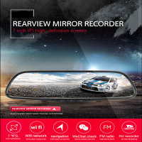 Special Android 4 4 Car DVR Dual Lens Camera Rearview Mirror Full HD 1080P Bluetooth WIFI