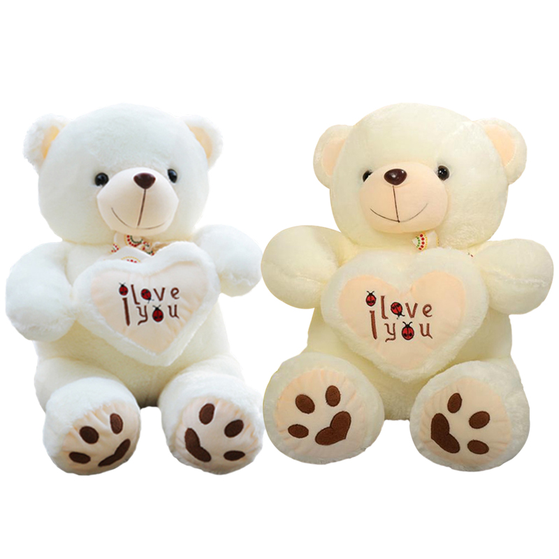 1pc 50cm&70cm Stuffed Plush Toy Holding LOVE Heart Big Plush Teddy Bear Soft Gift for Valentine Day Birthday Girls' Brinquedos fancytrader new style teddt bear toy 51 130cm big giant stuffed plush cute teddy bear valentine s day gift 4 colors ft90548