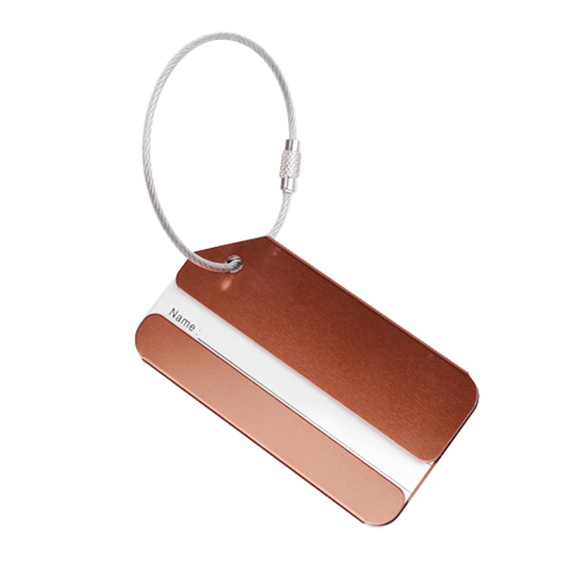 Metal luggage tag boarding pass