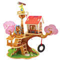 Kids Childs Preschool Toy 3D Wood Puzzle DIY Cartoon Animal Tree House Wooden Jigsaw