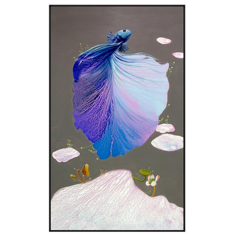 Modern Estilo Chinês Carpa & Lotus Pintura Da Lona Parede Poster Imprimir Imagem Início Arte Decoração Adesivos de Parede Pode Ser Personalizado