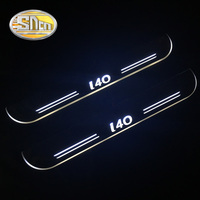 SNCN 4PCS Car LED Door Sill For Hyundai I40 2015 2016 2017 Ultra thin Acrylic Dynamic LED Welcome Light Scuff Plate Pedal