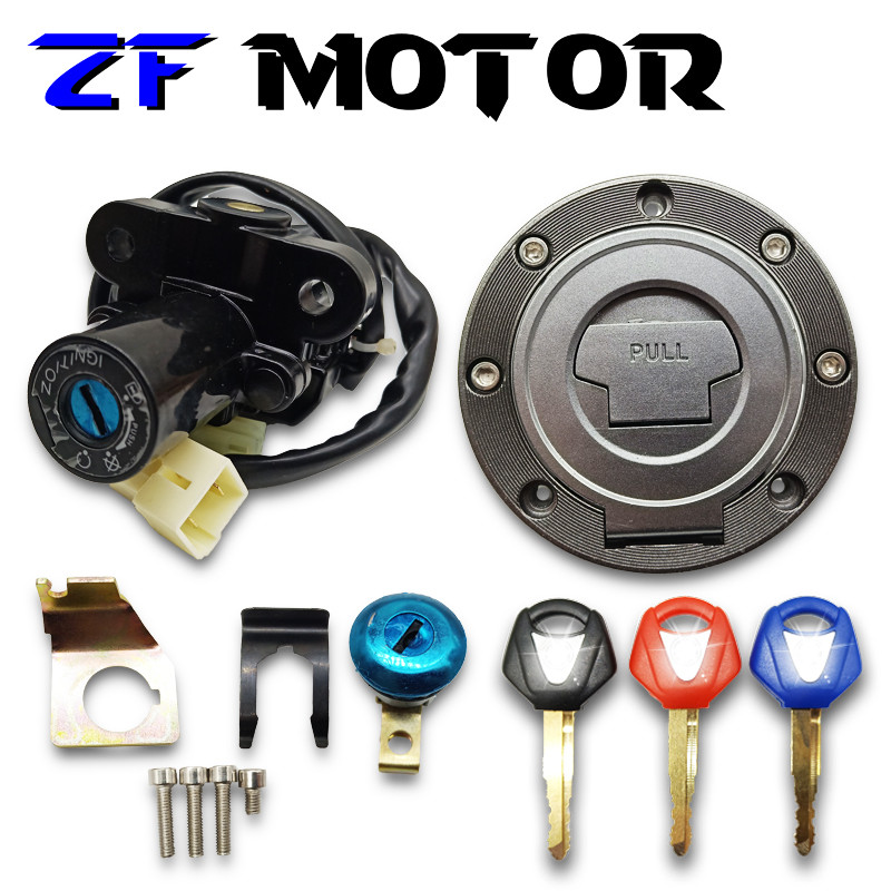 Ignition Switch Gas Cap Cover Seat Lock Key Set for Yamaha YZF R6 1999-2005