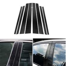 Car Real Carbon Fiber Window B pillar Molding Cover Trim For BMW E90 E60 F30 F10 X5 X6 E70 E71 F15 F16 F07 X3 F25 E46 X1 E84