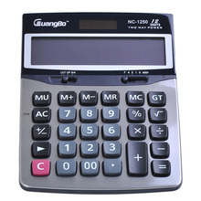Guangbo Solar Calculator Modern Portable School Office Tool Commercial Electronic 179 132 32mm Calculadoras NC 1250
