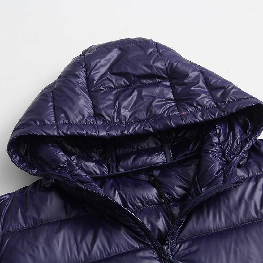 Новинка Осень Зима Плюс Размер 6XL пуховик женский ультра легкий белый пуховик парка длинный тонкий с капюшоном женская верхняя одежда RH1340