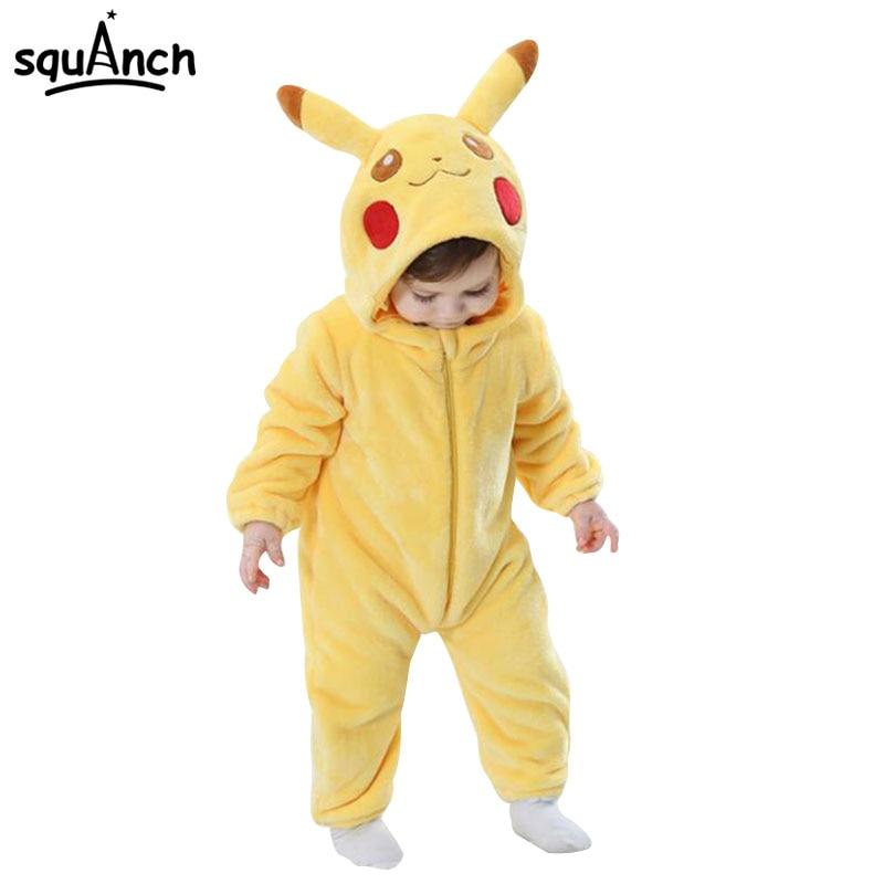 92fda184581e Pokemon Pikachu Onesie Baby Infant Kigurumi Onepiece Pajama Anime ...