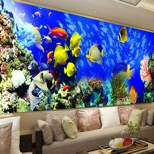 Image 1 - Bordado de diamantes de bricolaje, Diamante redondo paisaje de peces del océano Diamante de imitación completo pintura de diamantes 5D punto de cruz, costura