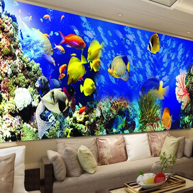 Bordado de diamantes de bricolaje, Diamante redondo paisaje de peces del océano Diamante de imitación completo pintura de diamantes 5D punto de cruz, costura
