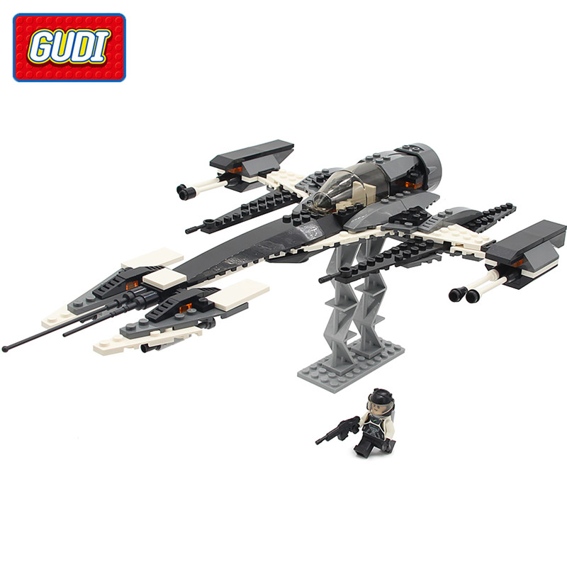 GUDI 184pcs Legoings Star Wars Building Blocks The Phantom X-fighter Building Bricks Educational Toys For Children Birthday Gift