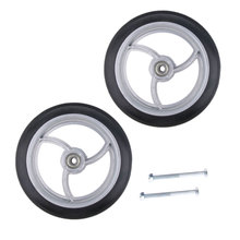 2pcs Alloy ABS Wheelchair Front Castor Wheels Replacement Part Tool For Wheelchairs, Rollators, Walkers And More 8 Inch