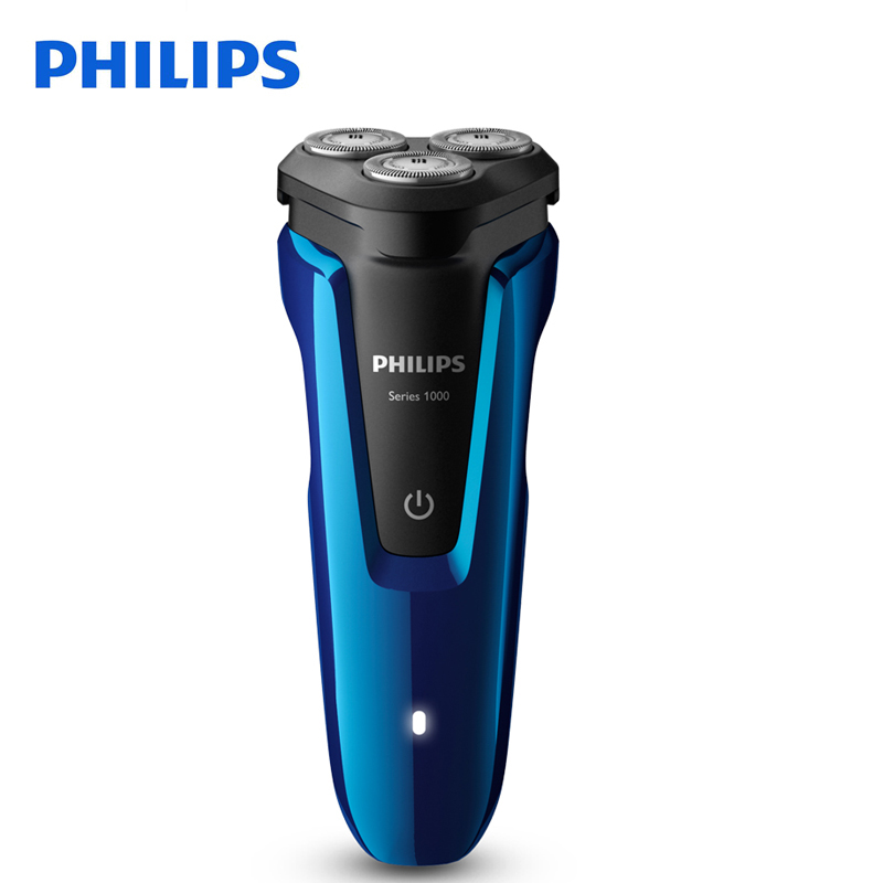 Philips Electric Shaver S1050 Rotary Rechargeable Body Wash With Triple Floating Blades For Men's Electric Razor With Indictor philips electric shaver pq190 rechargeable with ni mh battery 100 240v for men s electric razor independent two floating heads
