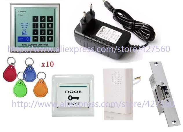 fail font b secure b font Electric Strike Door Access Control RFID keyword door Access Control