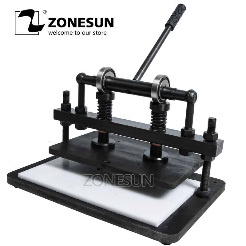 все цены на ZONESUN 3622cm DIY backpack handbag Manual leather die cutting machine photo paper PVC/EVA sheet mold cutter tool