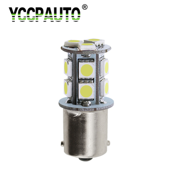 YCCPAUTO 1156 BA15S 1157 BAY15D Amber White Red p21/5w P21w LED Turn Signal Brake Lights Bulbs Car Parking Lamp 13 SMD 5050 1pcs image