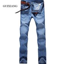 2017 новый летний мужские длинные джинсы стиль способа высокого качества случайный взрыв 100% хлопок тонкий легкие джинсы большой размер 28-38