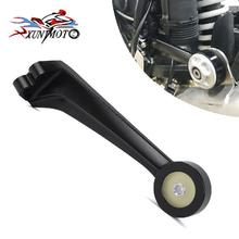 Motorcycle CNC Aluminum Exhaust Muffler Pipe Bracket Mount Holder for 2014 2015 2016 17 18 BMW R Nine T R 9 T Black Motorbike
