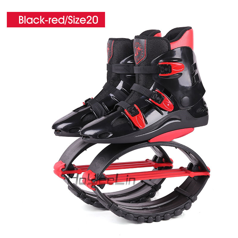 Обувь для фитнеса, кенгуру, прыжки, унисекс, уличная спортивная обувь, обувь для прыжков, сапоги для прыжков, стиль, размер 19/20 - Цвет: Black-red-Size20