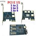 PCI E от 1 до 3/4/2 PCI express, 1X слот, Райзер-карта Mini ITX к внешнему 3 слота PCI-E, адаптер PCIe, усилитель порта, карта VER005