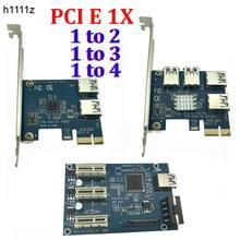 Cartão pci e 1 para 3 / 4 / 2 pci express 1x espaços riser mini itx para externo 3 adaptador de placa multialicate pci-e, porta pcie ver005