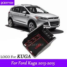 Автомобиль Стайлинг для Ford KUGA 2013-2015 LHD Автомобиль Центральной Консоли Подлокотник Коробка для хранения охватывает интерьера Аксессуары для авто