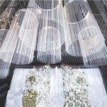 Зашифрованная линия занавес свадебный реквизит свадебный потолок украшение линия занавес Колесо Обозрения Кольцо потолочный линейный занавес