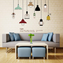 Creative chandelier Wall Sticker Living room Bedroom window background Vintage Light decoration Mural Decals home decor stickers & Popular Chandelier Wall Decals-Buy Cheap Chandelier Wall Decals lots ...