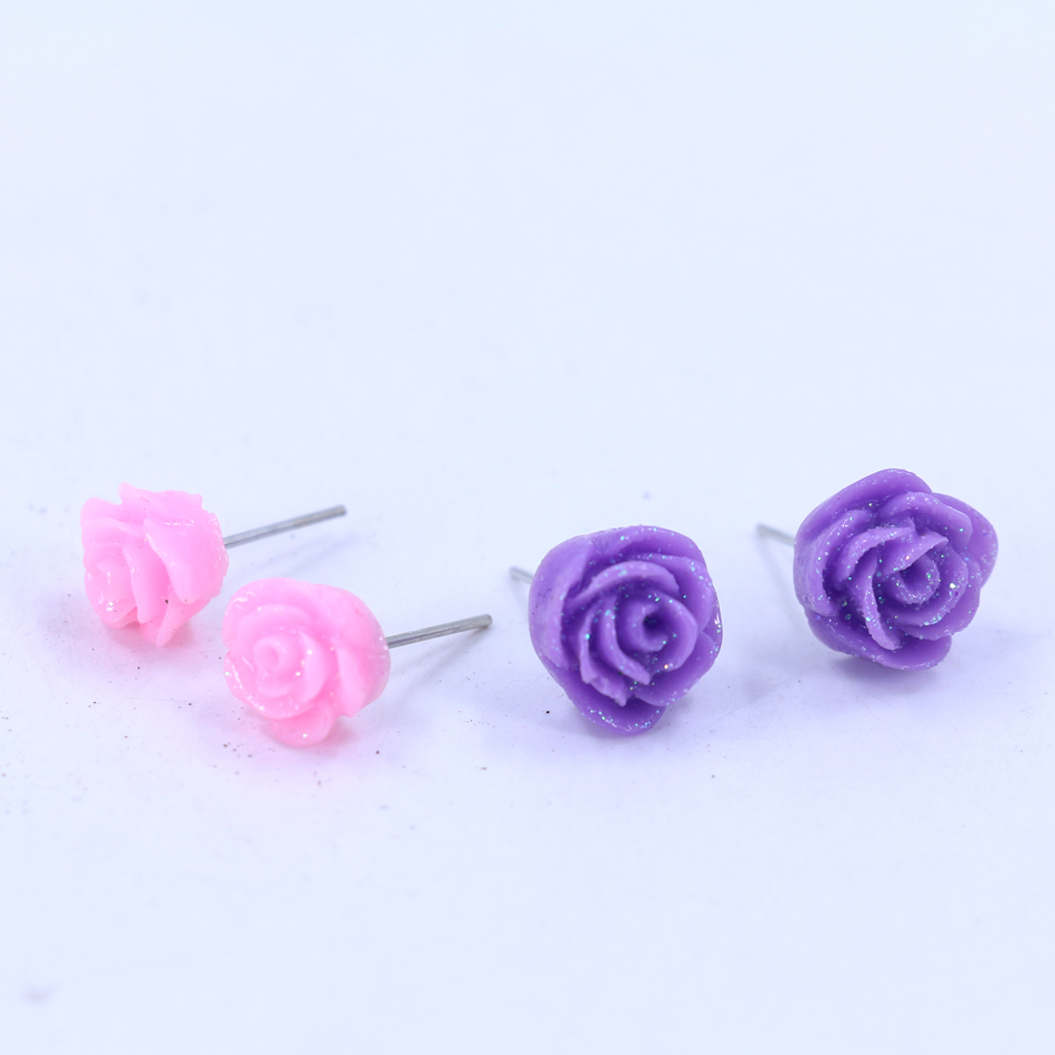 store stud stainless gift for woman steel product colorful female new arrival jewelry earrings fashion cubic zirconia