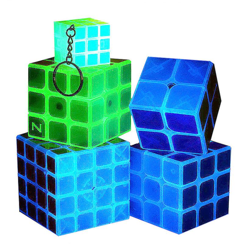 Z-cube 5 Kinds Glow in Dark  Magic Cube Puzzle Toy Luminous Magic Cube noctilucous Kids Educational Gift Toy Classic Girl Boy