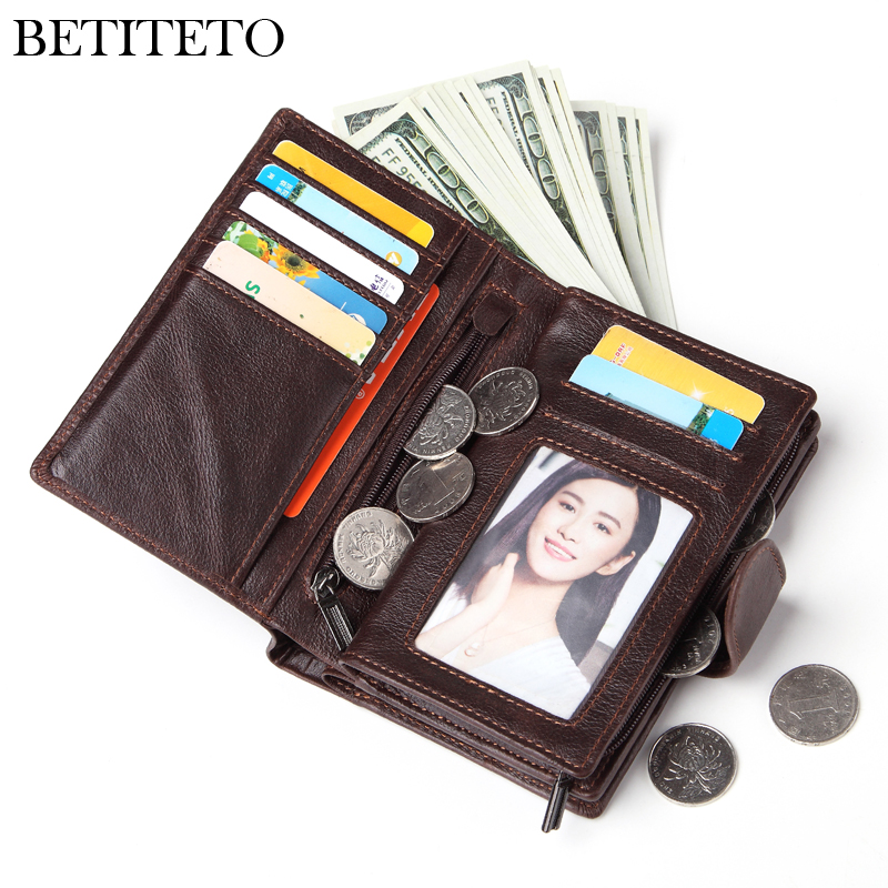 Image 4 - Betiteto Genuine Leather Mens Passport Cover Wallet Large Capacity Passport Holder Coin Purse Men Organizer Wallets Card HolderWallets   -